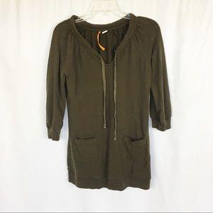 Anthro- Saturday Sunday brown pocket sweatshirt S